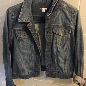Fitted jean jacket from bp